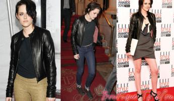 Kristen Stewart Love Her 1020 by Nicole Leather Jacket!