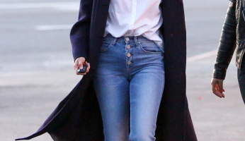 Selena Gomez Takes A Stylish Step Wearing Stuart Weitzman Loafers