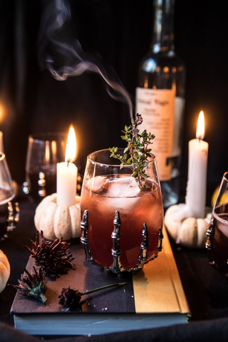 Sip Like a Celebrity On Halloween With the Deathly Hallows Cocktail