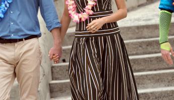 Meghan Markle's Striped Martin Grant Dress is  Beach Chic