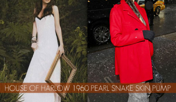 We Love House of Harlow 1960 Pearl Snake Skin Pumps!