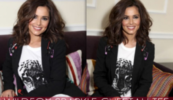 Cheryl Cole  looks great in the Wildfox Sparkle Cheetah Tee!