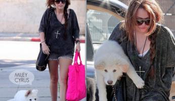 Miley Cyrus Loves Her Gypsy 05 Shreds Tee in Acid Black!