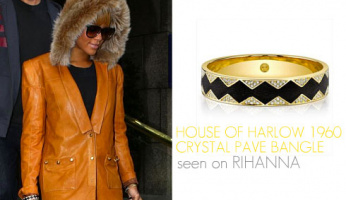 A Must Have! The House of Harlow 1960 Crystal Pave Bangle