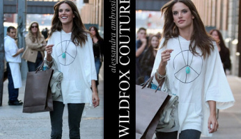 Alessandra Ambrosio Loves Her Wildfox Peace Poncho Sweater
