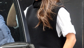 Victoria Beckham Drops By Her London Store In Style