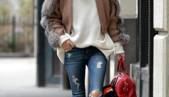 Keep Warm In This Luxe Cashmere Sweater Like Olivia Palermo