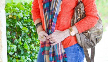 You Need an Oversized Plaid Scarf This Fall
