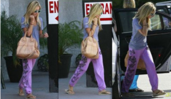 Ashley Tisdale Style! Go Vintage with Lauren Moshi Vintage Butterfly Sweatpants!