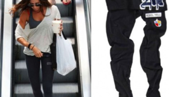 Ashley Tisdale Style! Rebel Yell Patches Leggings are a Catch!