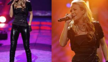 Carrie Underwood Rocks Voom by Joy Han Sequin Bolero!