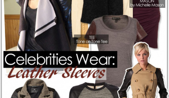 Celebrities Wear: Leather Sleeves