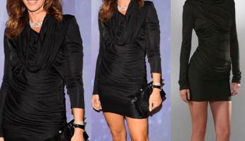 Cindy Crawford Style! Alexander Wang Hooded Goddess Dress!