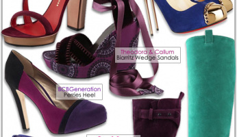 Fab Footwear: Bold Colored Suede