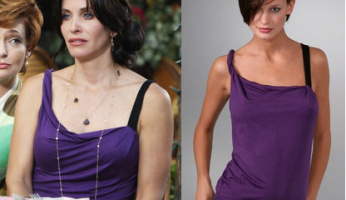You asked for it! Please ID Jules' Purple Top on Cougar Town!