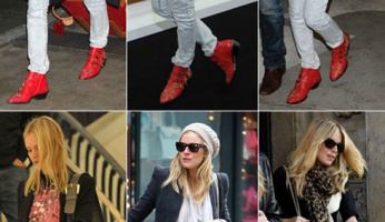 Sienna Miller Kate Bosworth Style Chloé Studded Ankle Boots...LOOK FOR LESS!
