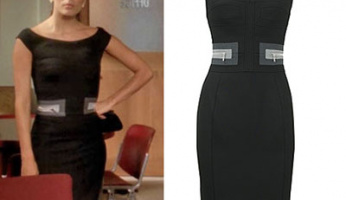 Desperate Housewives Style! Please ID Gabrielle's Belted Sheath Dress from Ep. 606