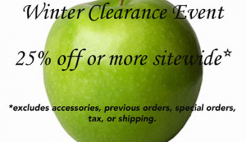 GreenApple.com Winter Clearance 25% or More Off Sitewide!