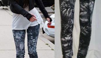 Kim Kardashian Style! Jet by John Eshaya Black Crystal Jeans!