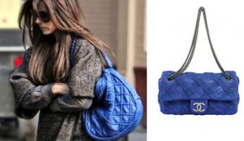 Heather's Handbag Of The Day! Chanel Blue Lambskin Leather Shoulder Single Flap Bag!