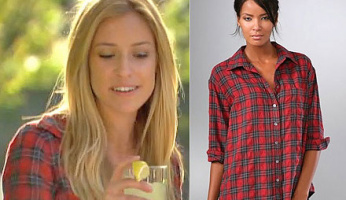 The Hill's Style! Kristin's Elizabeth and James Plaid Lauren Shirt from The Hills 516!