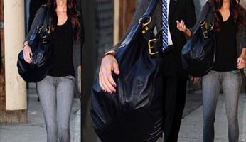 Megan Fox Style! Linea Pelle Lola Large Tote!