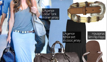 What She Wore: Minka Kelly in L'Agence