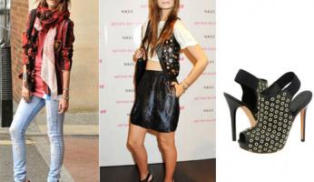 Mischa Barton Loves her Alexander McQueen Studded Platform Booties!