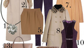 What's Hot Now: Camel and Plum