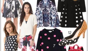 Perfect Pairing: Florals and Polka Dots