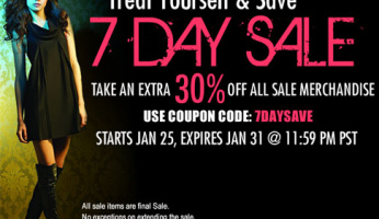 1 Day Left -Take An Extra 30% off All Sale Items At ShopRobertson.com!