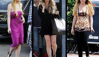Lindsay Lohan Loves Matt Bernson KM Gladiator Sandals!