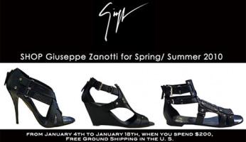 SHOP Giuseppe Zanotti for Sprin/Summer 2010 At ZOE.com!