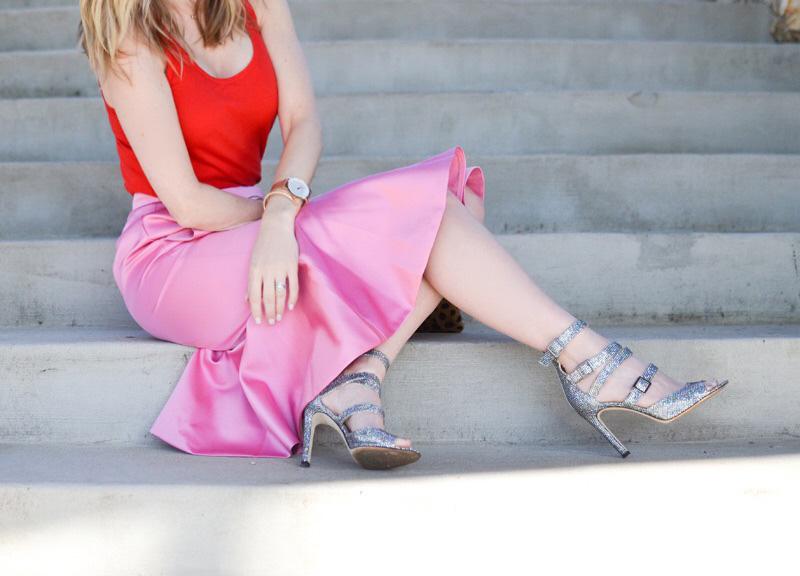 celebrity-style-j-crew-pink-trumpet-skirt