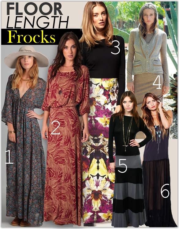 Celebrities Wearing Maxi Dresses Long Skirts