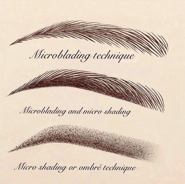 ombré brows vs microblading