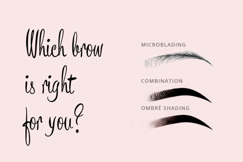 types of brow shading